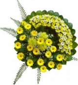Hoa tang lễ (bó hoa đồng tiền vàng)