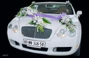 Hoa xe cưới -  Sự kết hợp của hoa địa lan trắng, tôn vẻ trong sáng, thánh thiện trong ngày cưới