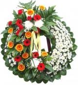 Hoa tang lễ (Bó hoa kết hợp giữa hoa đồng tiền và hoa hướng dương)