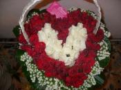 Gior hoa hồng trái tim